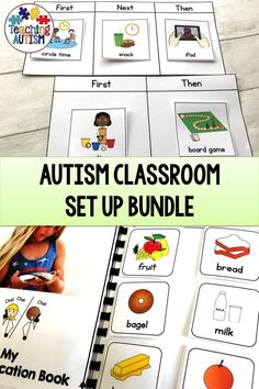 Use these visuals to set up your autism classroom for success. With resources to help communication, behaviours and classroom management. This is the perfect addition to any special education classroom. Autism Teaching, Autism Classroom, New Classroom, Special Education Classroom, Classroom Setting, Classroom Activities, Classroom Organization, Classroom Management, Behaviour Management