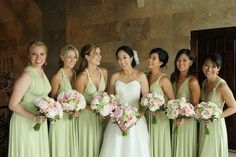 Elegant Enchanted Garden Pink and Green Wedding
