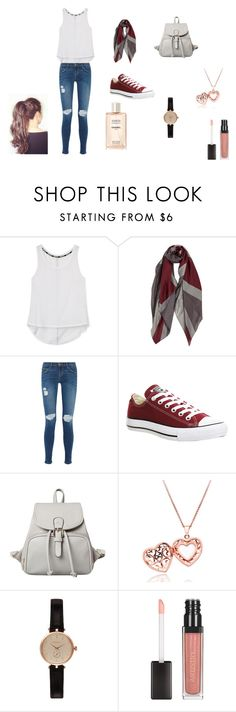 """""""Going  Out"""" by cookie2314 on Polyvore featuring beauty, Rebecca Minkoff, Current/Elliott, Converse and Barbour"""