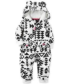 Carter's Baby Girls' Aztec-Print Hooded Coverall