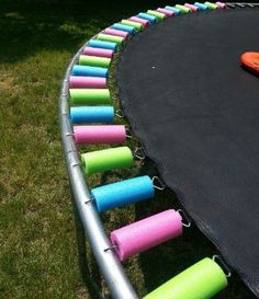 Covering your trampoline springs with pool noodles is a great little tip to keep the little ones safe! http://misprint.us/trampoline-safety