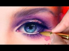 【WATERCOLOR PORTRAIT】Lana Del Rey inspired - YouTube