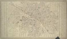 Map of the city of Paris in 1843