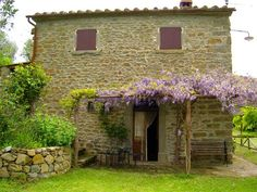 True Tuscan homes are square rectangular, stone or stucco.