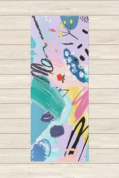 Yoga Mat with Design Splash, bright yoga mat, printed yoga mat, unique yoga mat, custom yoga mat, Yoga Accessories, yoga gifts for women