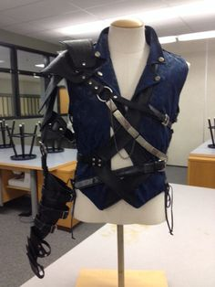 Steam Punk Vest and Leather Armor for Ryley. January 2014.