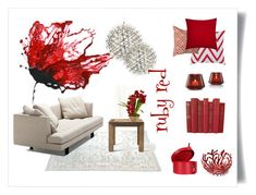 ruby red by levai-magdolna on Polyvore featuring interior, interiors, interior design, home, home decor, interior decorating, Bensen, Flamant, Alessi and Baccarat