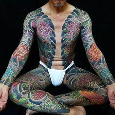 Japanese bodysuit tattoo by horikashi