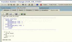 SAPTechnical.COM - Function Module Creation