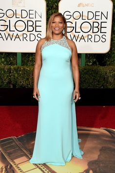 Every Single Look From The Golden Globes Red Carpet 2016 - Queen Latifah