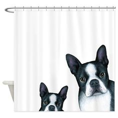 Shower curtains with an image from one of my original paintings.  The size is 69 x 70 Made of 100% softened polyester Standard size with 12