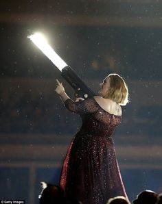 'I've never worn a dress like this': Adele later admitted the mishap had nearly happened because she had forgotten about the train