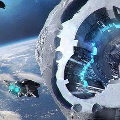 Asteroid Station by artistMaciej Drabik. | Cinema Gorgeous