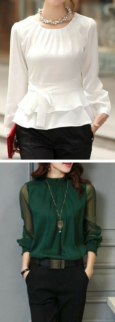 Cute blouses for women Cool Outfits, Casual Outfits, Fashion Outfits, Womens Fashion, Fashion Trends, Party Outfits, Trendy Fashion, Cute Blouses, Blouses For Women
