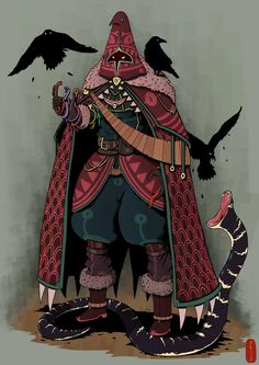 ArtStation - Level 100 Sorceress, Francisco Segura snake constantly trying to eat birds and fails of the time Character Design Challenge, Character Design Cartoon, Fantasy Character Design, Character Design References, Character Design Inspiration, Character Concept, Character Art, Concept Art, Rogue Character