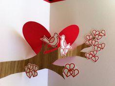 Love Birds  pop up Valentine card by ACardToCherish on Etsy