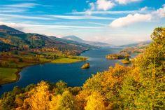 Queens View y el Lago Tummel, Escocia