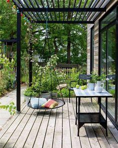 Pergola Ideas For Patio Refferal: 8003292230 Small Pergola, Pergola Garden, Patio Gazebo, Modern Pergola, Small Backyard Patio, Backyard Pergola, Pergola Shade, Pergola Plans, Pergola Ideas