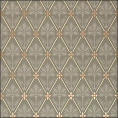 """Mason & Wolf Wallpaper, Thirza. Inspired by late 1800s designs by Dr. Christopher Dresser. $60/roll. 27"""" wide; 6-3/4"""" repeat."""
