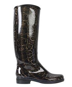 däv Brown Snake English Rain Boot by däv #zulily #zulilyfinds