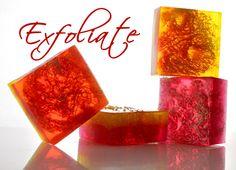 Exfoliating Loofa Sponge Soap. Learn how to make.