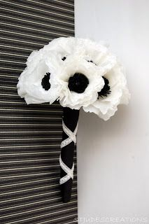 black and white wedding - anemone wedding order | Handmade Flowers