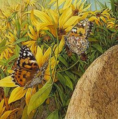 Bev Doolittle, if you look closely at her work you'll find hidden objects in her paintings..