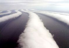 Stratocumulus (Morning Glory) clouds off the coast of Hokkaido, Japan.