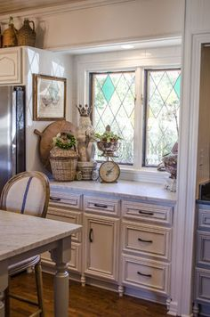 Carrara marble countertops are truly the kitchen dream.