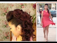 Faux Hawk Hair Tutorial - Soft romantic curls for a mohawk or undercut updo