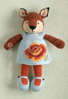 fannie by littlecottonrabbits, via Flickr///  pattern might be on ravelry or etsy