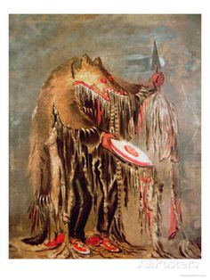 The White Buffalo, c.1840 Giclee Print by George Catlin kp