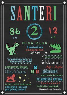 Synttäritaulu dinosaurus - Dia Design - Adia