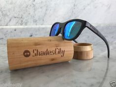 070b76df31 Details about Men s 2019 Handcrafted Bamboo Frame Gradient Tinted Polarized  Sunglasses