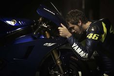 Valentino Rossi and his Yamaha M1. 2013. They finally meet again.