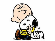 charlie brown and snoopy  -  always think of my Dad when I see these guys!  He loved Charlie Browna and Snoopy!