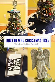 Housewife Eclectic: Doctor Who Christmas Tree. The Perfect tree for the Whovian in your life with step by step tutorials!