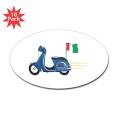 Italian Scooter Vespa Motorcycle Decal on CafePress.com