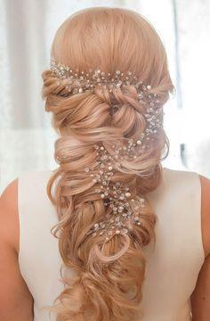 Long Hair Vine Extra Long Headpiece Bridal Hair Vine Jewelry | Etsy