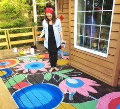 alisaburke: painted deck project