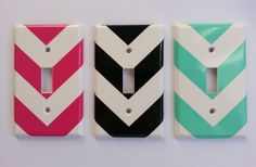 Saw this on GroopDealz and thought it would be an awesome DIY! | Classy Chevron Light Switch and Plug Decals