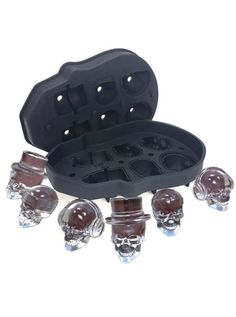 The Giant Skull Design Ice Cube Mold is a great alternative to round ice or the ak ice tray. This Giant Skull Design Ice Cube Mold will add an explosion to you and your guests drinks. Silicone Ice Molds, Ice Cube Molds, Ice Cube Trays, Ice Tray, Ice Cubes, Skull Shot Glass, Cake Pop Molds, Chocolate Candy Molds, Novelty Items