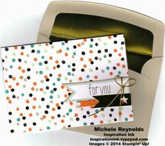 Card by Michele Reynolds, Inspiration Ink, using Good as Gold Card Kit from Stampin' Up! Sale-A-Bration 2014.