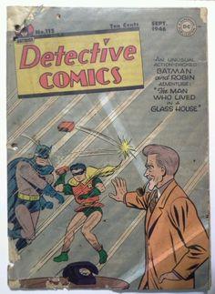 Detective Comics - The Man WHo Lived in a Glass House (Issue) Batman Comic Books, Batman Comics, Comic Books Art, Robin Comics, Dc Comics Art, Pulp Fiction Comics, Batman And Superman, Batman Arkham, Vintage Comics