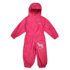 Regatta Toddler's Heritage Puddle IV Walking Suit 24 - 36 Months Jem Pink. Waterproof, Breathable And Lightweight Fabric To You Dry And Comfortable Outdoors. Taped Seams Prevent Water Seeping Inside To Stay Dry. Reflective Trim For Better Visibility Of Wearer. Integrated Hood Provides Protection From The Elements.