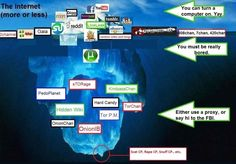 #DeepWeb iceberg analogy. I searched but couldn't find original creator, if anyone knows who it is so I can properly attribute, much obliged. http://www.sheawong.com/privacy/ #StopCensoringMotherhood, Privacy, and you. A primer. - The Honey Badger of West London