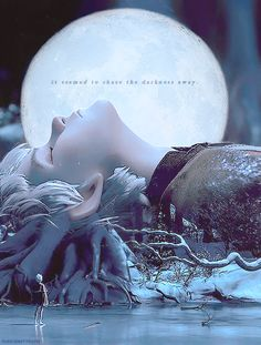 it seemed to chase the darkness away-Jack Frost --- I might want this quote in a tattoo near my moon one :)