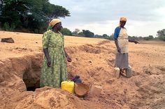 Anna Mutungi (left) and Susan Kalatine are among thousands of people whose only source of water is the sandy bed of this river on the eastern edge of Kenya's highlands. Highlands, Hand Washing, Anna, River, Bed, People, Stream Bed, Beds, People Illustration