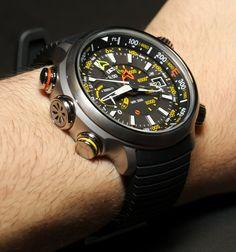 Citizen Altichron Analog Altimeter Compass Watch Hands-On en 2013, los relojes…