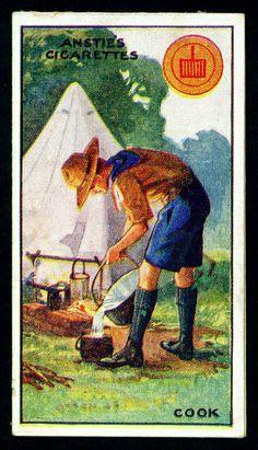 Cigarette Card - Scouts - Cook